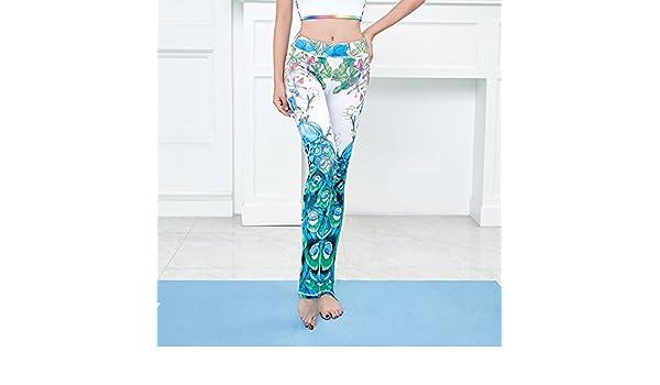 JIALELE Pantalon Yoga Pantalones Ropa De Yoga Gimnasio Ejecutando Sport  Apretado Video Sello Peacock Pantalones Delgados  Amazon.es  Deportes y aire  libre d7e77a776cce