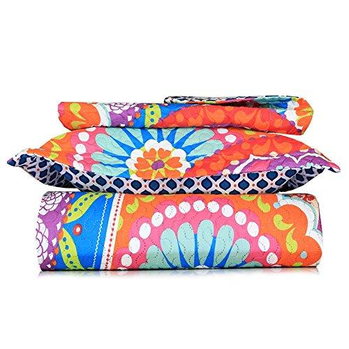 orange and blue quilt - 5