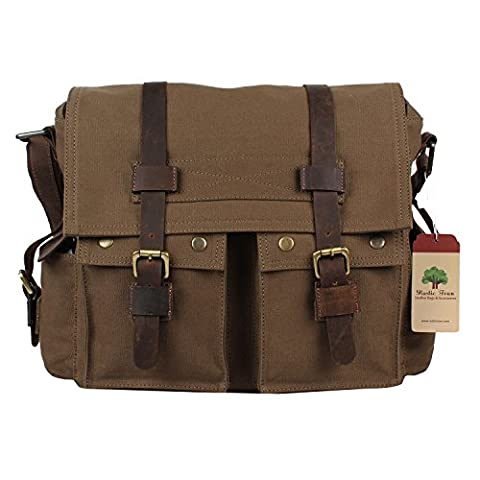 Rustic Town Canvas Messenger Bag Laptop Bag School Will Smith Bag College Bag Gift Him Her