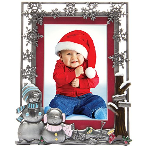 Pewter Winter Christmas Picture Frame (Christmas Picture Frames 5x7)