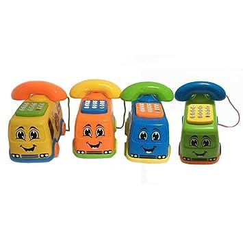 Cartoon Baby Music Phone Early Learning Toy Kids Educational Toys Gift Randomly