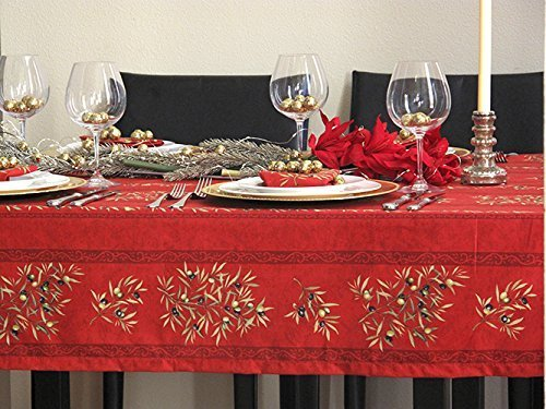 72-or-84-inches-rectangular-or-oval-tablecloth-provence-olives-branches-in-red-please-choose-the-siz