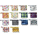 2 Pieces Mini Wet Bag Reusable for Mama Cloth Menstrual Pads / Breast Pads - You Choose 2 Bags From 14 Designs and Send Message to Me