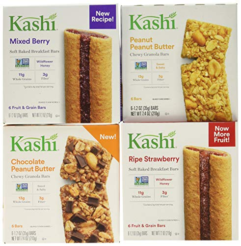 Kashi Chewy Bar Variety Pack, Fruit & Nut, 29.2 Ounce (Kashi Butter Peanut)