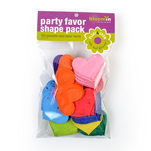 (Bloomin Seed Paper Shapes Packs - Heart Shapes - 100 Shapes Per Pack - 2.3x1.8