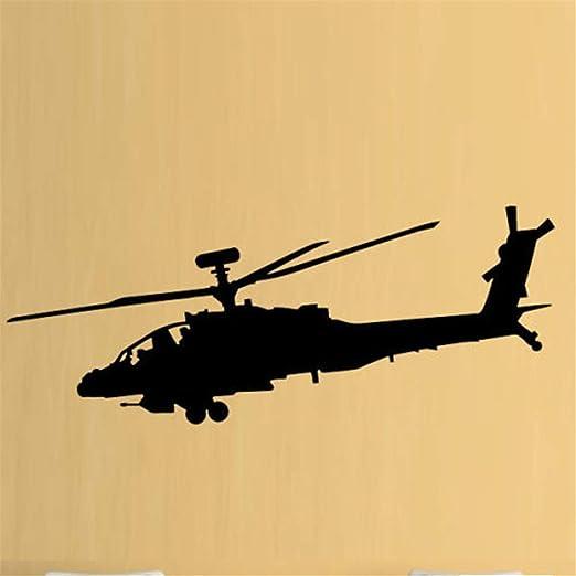 Wandaufkleber Kinderzimmer Wandtattoo Schlafzimmer Hubschrauber Armee Jungen Hobby Apache Fur Wohnzimmer Hintergrund Schlafzimmer Haus Amazon De Baumarkt