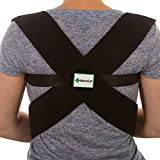 Back-Up Posture Corrector Support Brace for Thoracic Kyphosis, Clavicle and Shoulder Brace, Lower and Upper Back Pain Relief, Lumbar Support - Fully Adjustable for Men and Women