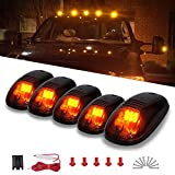 universal cab roof lights - YITAMOTOR Cab Marker Lights 5 x Amber Top Clearance Roof Running Lights with Wiring Harness Compatible for Ford Dodge Truck SUV Pickup 4x4 (Universal)