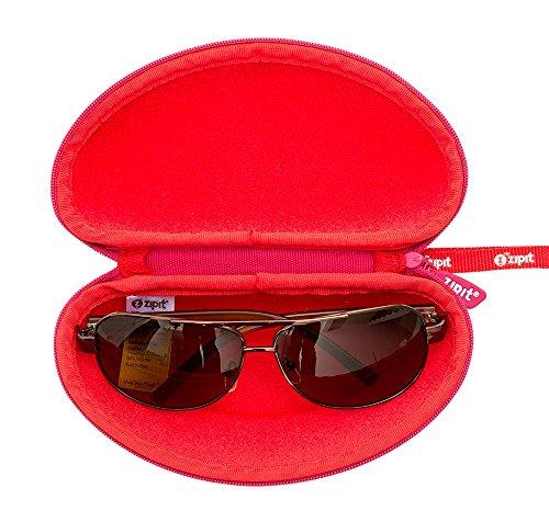 ZIPIT Colorz Box Glasses Case, Pink Triangles Photo #5