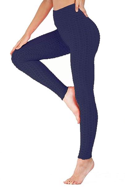 Amazon.com: ChinFun - Mallas de yoga para mujer, cintura ...