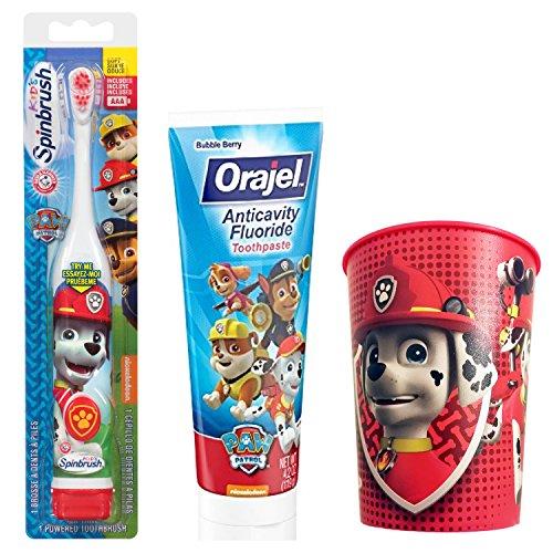Paw Patrol Marshall Toothbrush Toothpaste product image