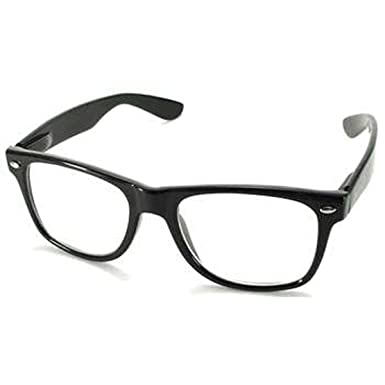 cf4c0156b23 Amazon.com  (120 Pieces Per Case) Bulk Sunglasses Eyewear Wholesale (1) Lot  of Retro Classic Style) (BLACK CLEAR)  Clothing