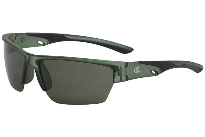 f85b6624c89 Image Unavailable. Image not available for. Color  Champion Men s CU5099 CU  5099 C02 Green Sport Wrap Sunglasses 71mm