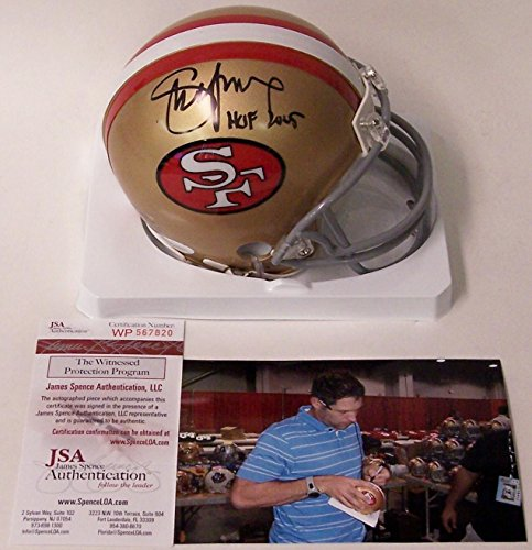 Young Mini Helmet - Signed Steve Young Mini Helmet - JSA Certified - Autographed NFL Mini Helmets