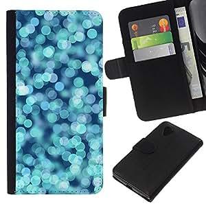Planetar® Modelo colorido cuero carpeta tirón caso cubierta piel Holster Funda protección Para LG Google NEXUS 5 / E980 / D820 / D821 ( Agua Glitter Blue Ocean Surf Verano)