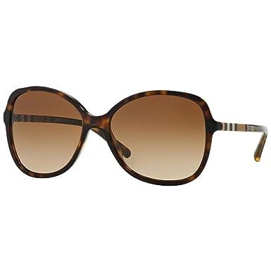 BURBERRY Damen Sonnenbrille 4239Q 30018G, Schwarz (Black/Grey), 57-19