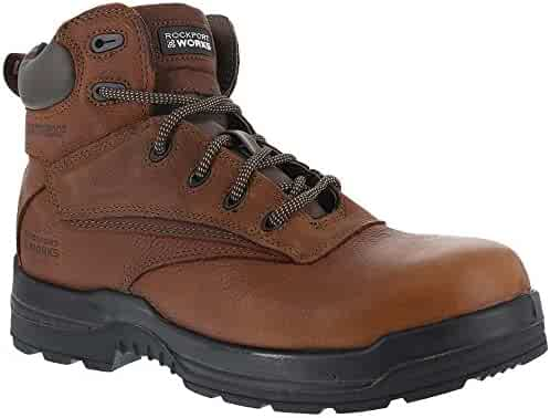 46128f5cb0a69 Rockport Womens Deer Tan WP Leather Work Boots More Energy Comp Toe