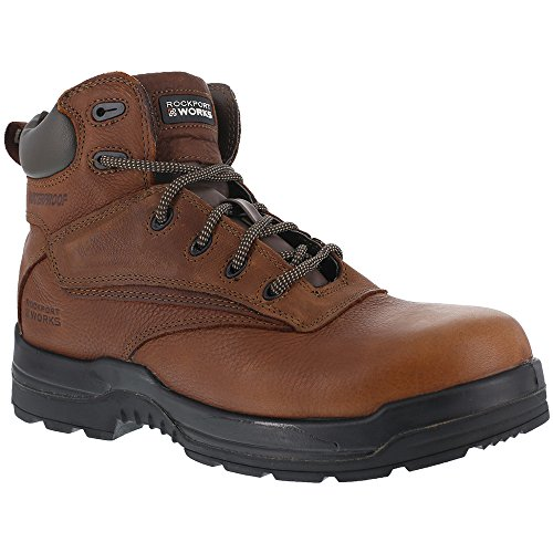 Botas De Trabajo Rockport Mujeres Deer Tan Wp De Cuero More Energy Comp Toe Deer Tan Leather