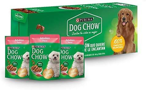 DOG CHOW alimento húmedo adultos pavo paquete con 20 Pzas 2