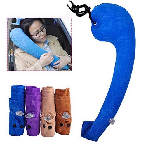 Good Inflatable Travel Air Pillow Foldable Neck Cushion Comfortable Car Sleep Tool - Obus Forme Homedics
