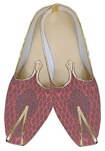 Zapatos Negro Hombres Boda Brocado MJ0077 INMONARCH nqExzPIP