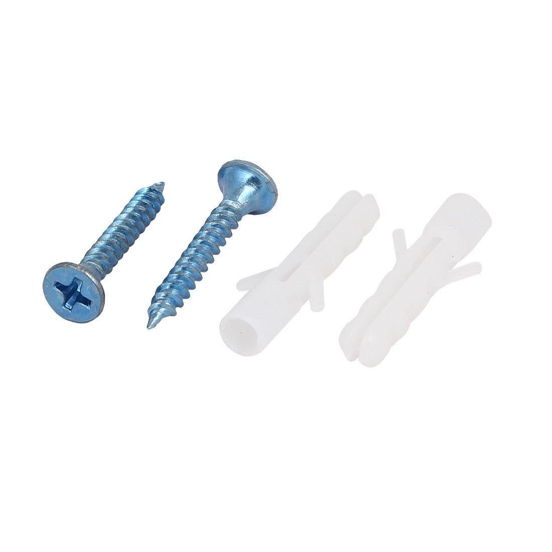 eDealMax M3x25mm Plastique Expansion mur Frame Ancres w Vis 100 Sets autotaraudeuses