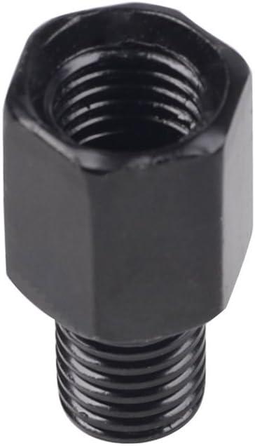 Frenshion 10mm per Mancini a 10mm Specchietto Retrovisore per Motocicli Destro Reverse Argento Conversione Bulloni per viti Viti per Specchietto Antiorario in Senso Orario Accessori Parti