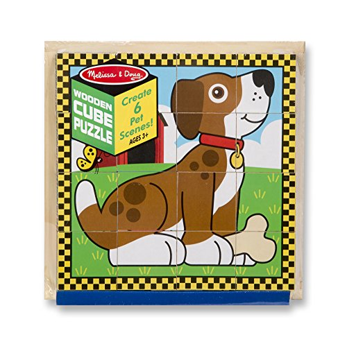 Melissa & Doug Pets Wooden Cube Puzzle With Storage Tray (16 pcs) by Melissa & Doug (Image #3)