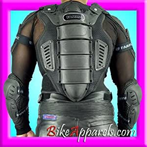 a3j Safety Protector ARMOR Jacket Back Body Men Guard , Black, XL