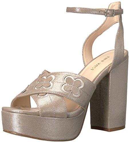 Women's Nine Platform West Metallic Silver Koolkat Sandal O665w7