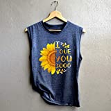 Women Tops Casual Sleeveless Letter Print Shirt