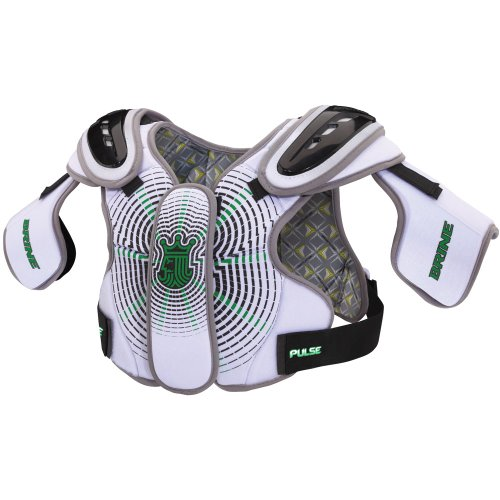 Brine Pulse Lacrosse Shoulder Pad (Medium, White)