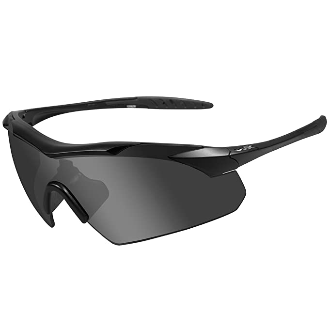 Wiley X WX Vapor Sunglasses Smoke Grey, Clear, and Light Rust Lens