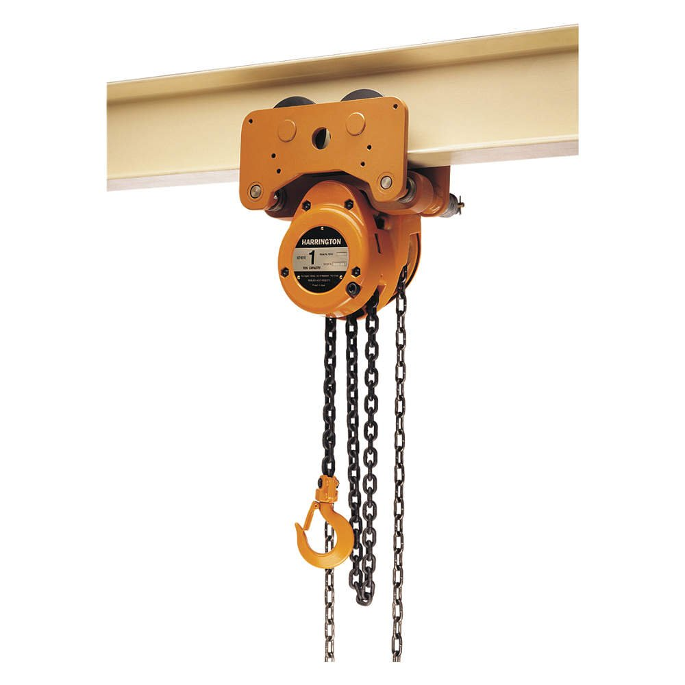 Harrington Hoists - G-NTH050-10 - Manual Chain Hoist, 10, 000 lb. Load Capacity, 10 ft. Hoist Lift, 1-51/64 Hook Opening