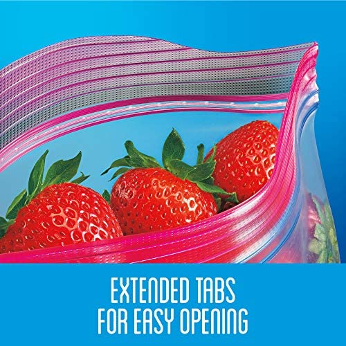 Ziploc Storage Bags with New Grip 'n Seal Technology, for Food, Sandwich, Organization and More, Gallon, 75 Count