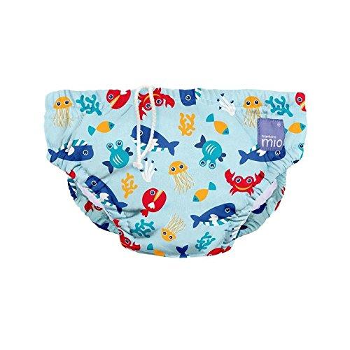 大水泳おむつ深海青1~2年 (Bambino Mio) (x 6) - Bambino Mio Large Swim Nappy Deep Sea Blue 1-2 Years (Pack of 6) [並行輸入品]   B01M18GZSF