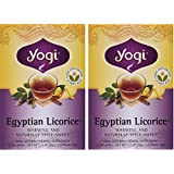Yogi Tea - Egyptian Licorice - Warming & Naturally Spicy-Sweet - 16 Tea Bags Each (Pack of 2)
