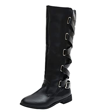 d1bc1580cc5 Boots for Women, Xinantime 2018 Newest Ladies Point Toe Hign Heels Boots  Buckle Roman Knee High Cowboy Boots Long Boots Leather Over The Knee Boots  ...