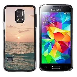 Paccase / SLIM PC / Aliminium Casa Carcasa Funda Case Cover para - Ocean Sea Waves Surf Summer - Samsung Galaxy S5 Mini, SM-G800, NOT S5 REGULAR!