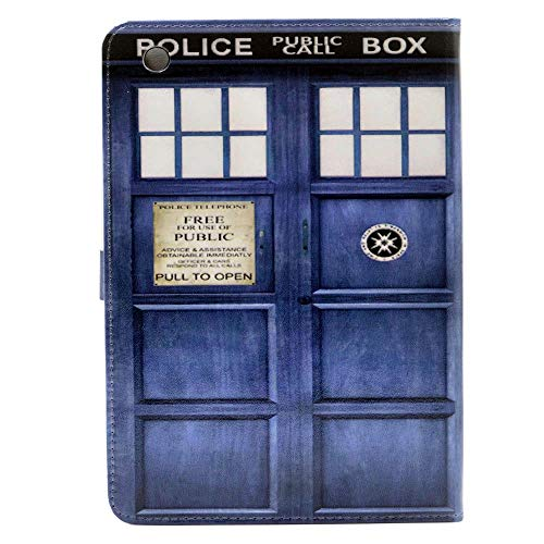 iPad Mini Case Doctor Who Tardis Pattern Leather Flip Stand Case Cover Slim Book Shell Stand Case Cover for Apple ipad Mini 3, 2 and 1th