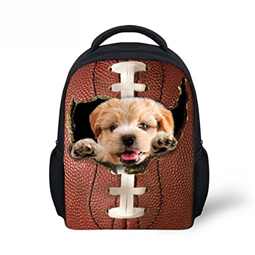 Inkday 3D Cat School Bags Cute Baby Schoolbag Kawaii Dog Printing Mini Backpacks W3831F