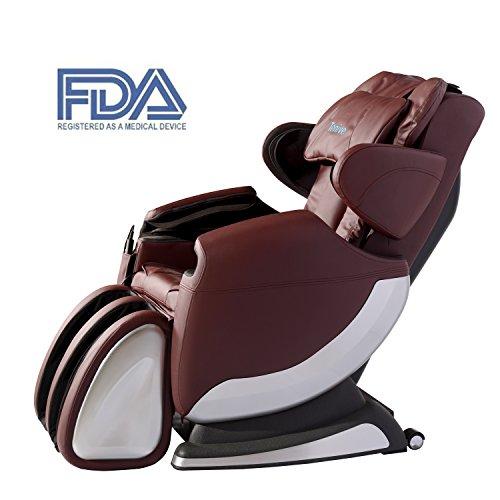 Tenive Full Body Zero Gravity Shiatsu Massage Chair Recliner -8 Massage Points - 35 Air Bags - Roller Massage w/ Heating Therapy