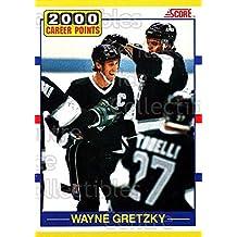 Wayne Gretzky Hockey Card 1990-91 Score Rookie Traded #110 Wayne Gretzky
