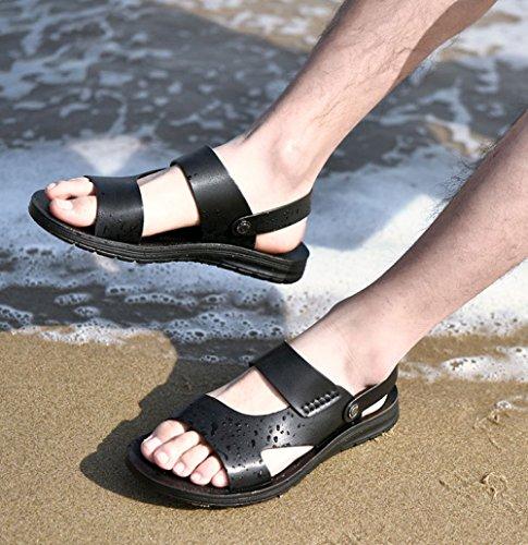 Scarpe Uomo da Impermeabili Spiaggia Infradito Black Uomo Estivo da LEDLFIE da nqZIC6OO