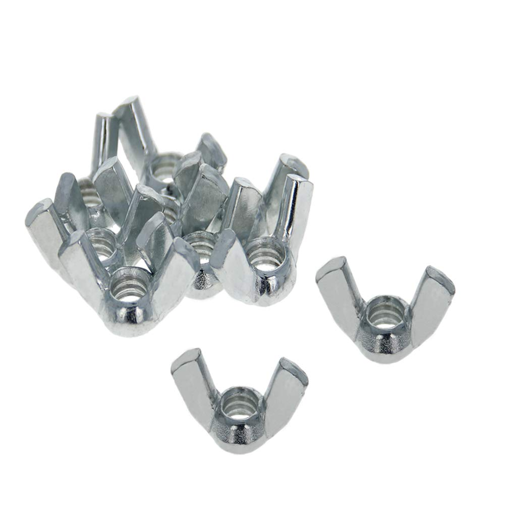 MroMax 5//16-18 Butterfly Nuts Carbon Steel Wing Nuts Zinc Plating 40Pcs Sliver Tone