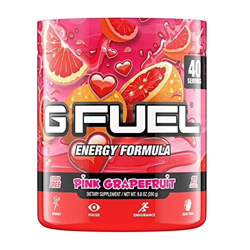 G Fuel Pink Grapefruit Tub (40 Servings) Elite Energy and Endurance Formula 10.44 oz.