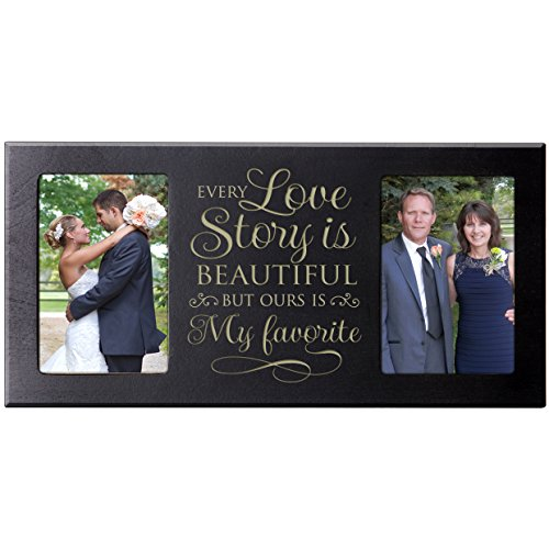 Parent Wedding Gift ,Wedding Photo Frame, picture frame gift for Bride and Groom Anniversary gift for parents Every Love Story is Beautiful 16