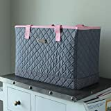 Everything Mary Deluxe Quilted Pink & Grey Sewing