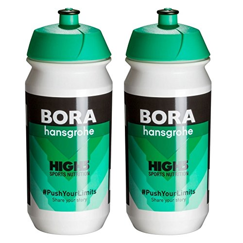 Water Bottle Tour De France (Tacx Shiva Pro Team Water Bottles - 500ml, Bora Hansgrohe (2 Pack))