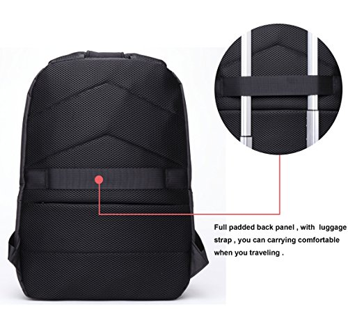 BISON DENIM Slim Business Laptop Backpacks Anti thief Tear/Water Resistant Travel Bag Backpacks fits up to 15 15.6 Inch Computer Laptops Backpack In Grey by BISON DENIM (Image #3)